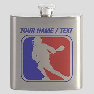 Custom Lacrosse League Logo Flask