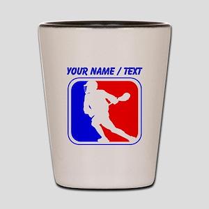 Custom Lacrosse League Logo Shot Glass