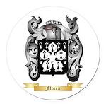 Floren Round Car Magnet