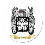 Florelle Round Car Magnet