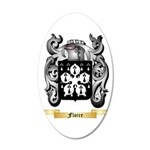 Floire 20x12 Oval Wall Decal