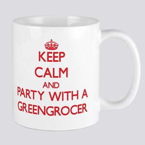 Keep Calm and Party With a Greengrocer Mugs