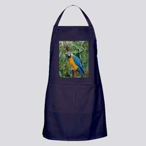 Blue and Gold Macaw Apron (dark)