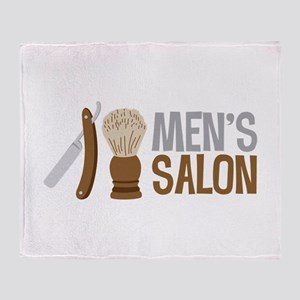 Mens Salon Throw Blanket