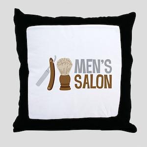Mens Salon Throw Pillow