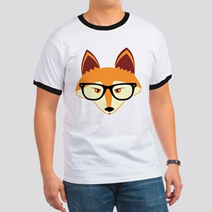 Cute Hipster Fox with Glasses T-Shirt