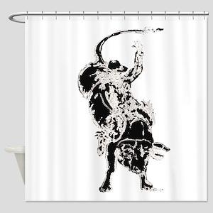 Bull Rider 2 Shower Curtain