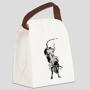 Bull Rider 2 Canvas Lunch Bag