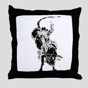 Bull Rider 2 Throw Pillow