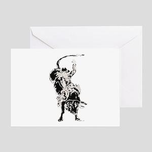 Bull Rider 2 Greeting Card