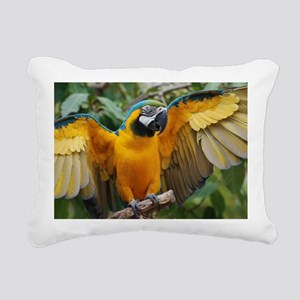 Macaw Wings Rectangular Canvas Pillow