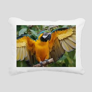 Macaw Wings Rectangular Canvas Pillow