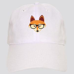 Cute Hipster Fox with Glasses Baseball Cap