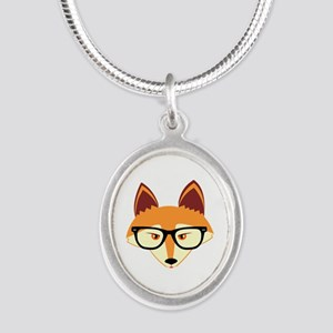 Cute Hipster Fox with Glasses Necklaces