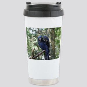 Blue Macaw in a Tree Stainless Steel Travel Mug