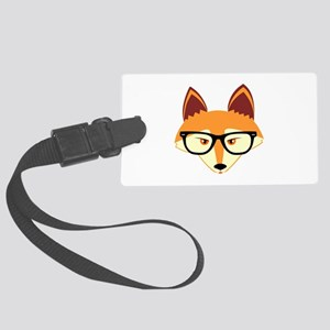 Cute Hipster Fox with Glasses Luggage Tag