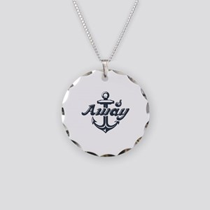 Anchors Away Necklace Circle Charm