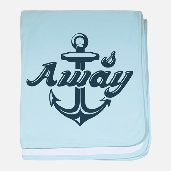 Anchors Away baby blanket