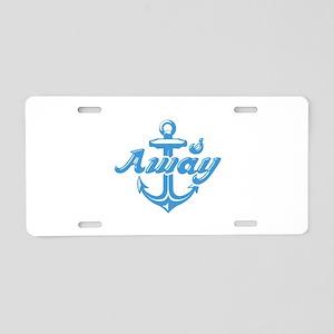 Anchors Away Aluminum License Plate
