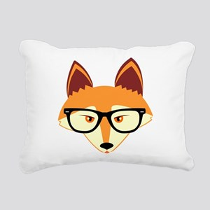 Cute Hipster Fox with Glasses Rectangular Canvas P