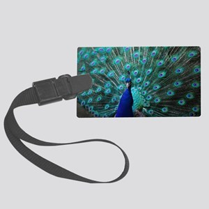 Peacock Large Luggage Tag