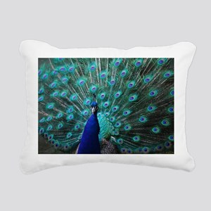 Peacock Rectangular Canvas Pillow