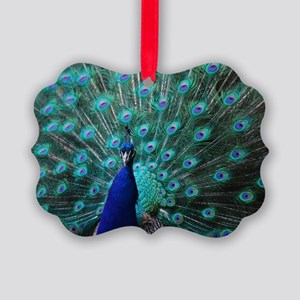 Peacock Picture Ornament