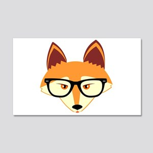 Cute Hipster Fox with Glasses Wall Decal