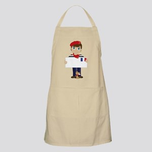 French Boy Sign Apron