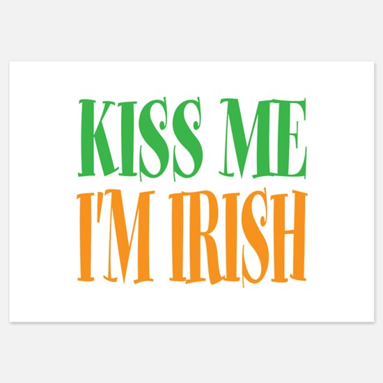 Kiss me im Irish St Patricks Day Invitations