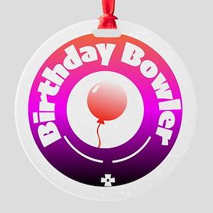 Birthday Bowler Ornament
