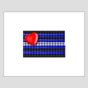 WOVEN LEATHER PRIDE PLAG/HEART Small Poster