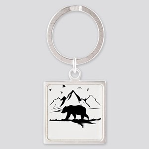 Mountains Wilderness Bear Keychains