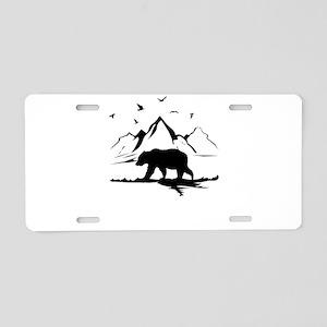 Mountains Wilderness Bear Aluminum License Plate