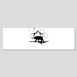 Mountains Wilderness Bear Bumper Sticker
