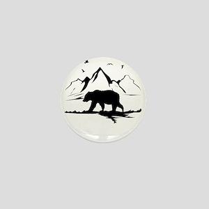 Mountains Wilderness Bear Mini Button