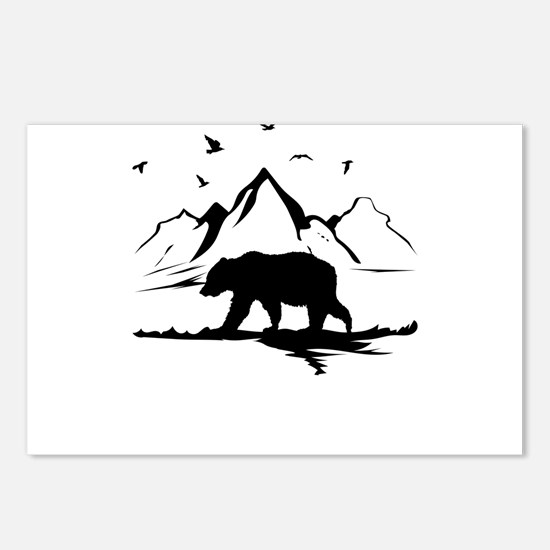 Mountains Wilderness Bear Postcards (Package of 8)