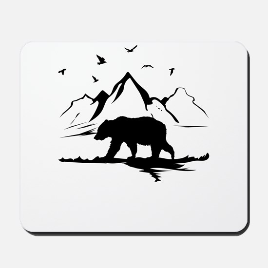 Mountains Wilderness Bear Mousepad