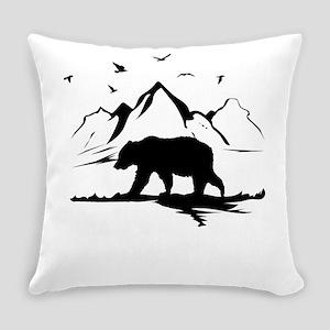 Mountains Wilderness Bear Everyday Pillow