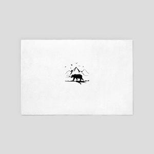 Mountains Wilderness Bear 4' x 6' Rug