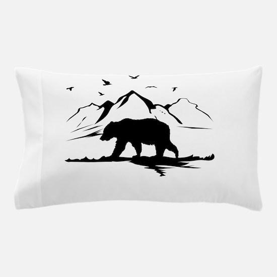 Mountains Wilderness Bear Pillow Case