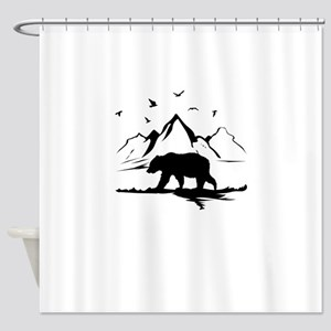 Mountains Wilderness Bear Shower Curtain