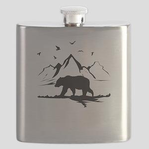 Mountains Wilderness Bear Flask