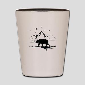 Mountains Wilderness Bear Shot Glass