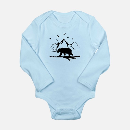Mountains Wilderness Bear Body Suit