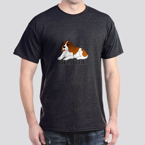 Cartoon Beagle Dark T-Shirt