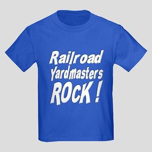 Railroad Yardmasters Rock ! Kids Dark T-Shirt
