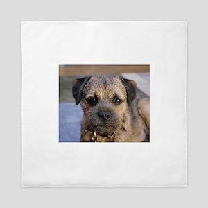 border terrier Queen Duvet