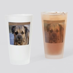border terrier Drinking Glass