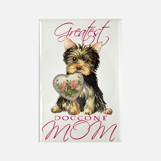 Yorkie Mom Rectangle Magnet